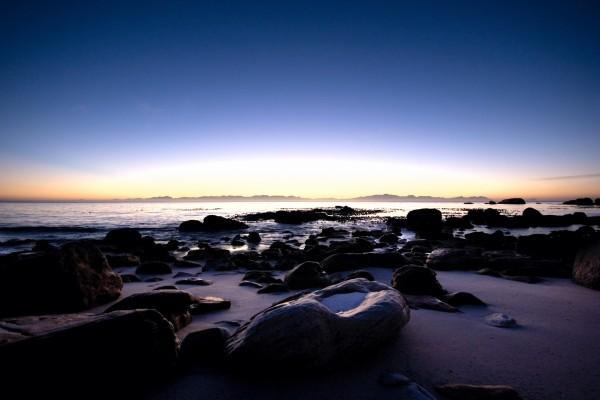 Cielo iluminado al amanecer