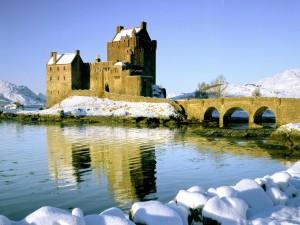 Nieve en el castillo