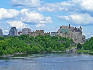 Postal: Chateau Laurier, en Ottawa (Canadá)
