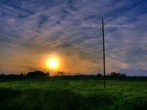 Sol en un bonito amanecer