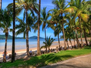 Vista a la playa desde la carretera
