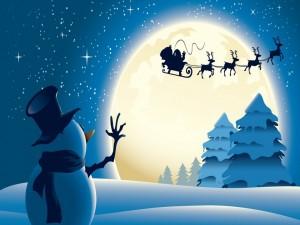 Saludando a Papá Noel