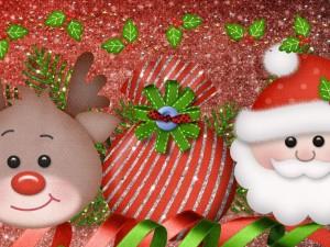 Postal: Santa y Rudolph