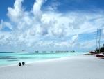 Hermosa playa de arena fina