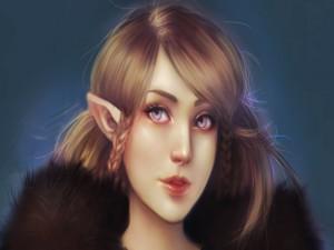 Postal: Una guapa elfa
