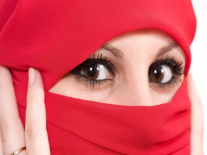 Mirada atrapante de una mujer