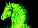 Caballo 3D de color verde