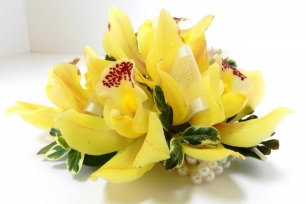 Ramo de orquídeas amarillas