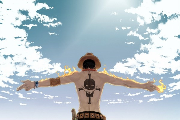 La espalda de Portgas D. Ace (One Piece)