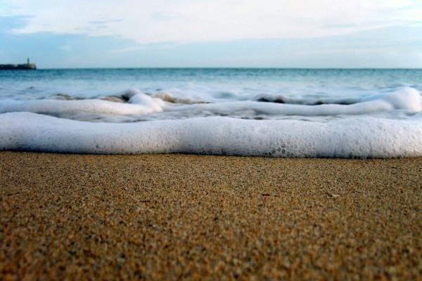 Agua de mar y arena