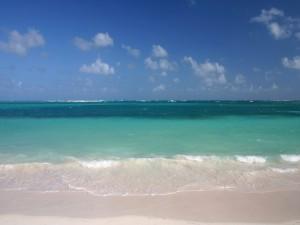 Postal: Una playa solitaria