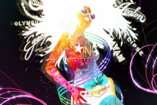 Mujer digital representando Las Vegas