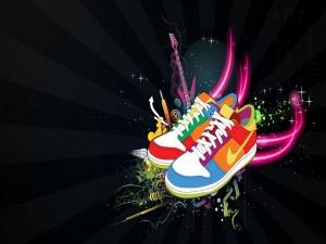 Postal: Playeras Nike de colores