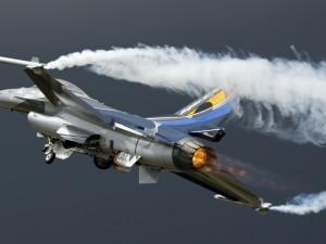 Postal: Un avión F-16