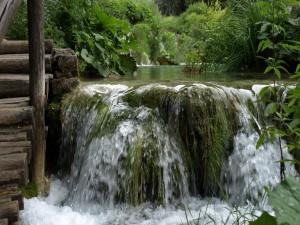 Salto de agua en un río