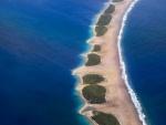 Barrera natural en el mar