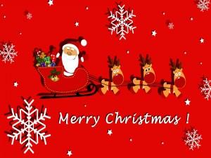 Un simpático Santa Claus te desea ¡Feliz Navidad!