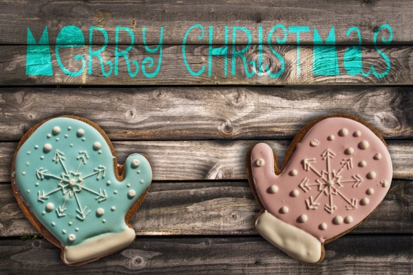 Mitones de galleta y Feliz Navidad