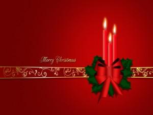 Postal: Velas rojas para festejar la Navidad