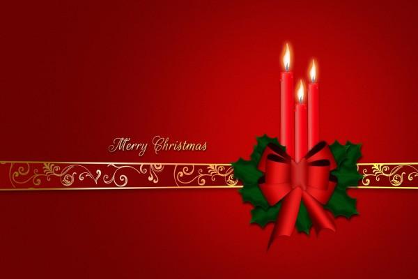 Velas rojas para festejar la Navidad