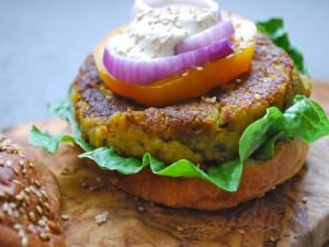 Una sana hamburguesa vegana