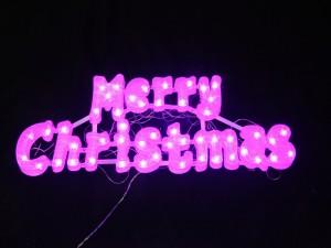 Postal: Luces de Feliz Navidad