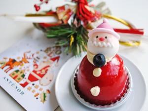 Postal: Pastel de Santa Claus para estas Navidades