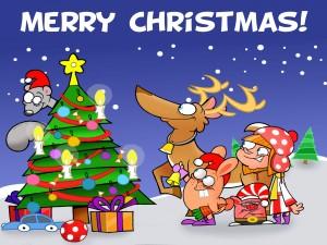 Original postal navideña