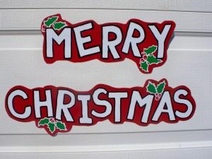 Postal: Adorno de Feliz Navidad