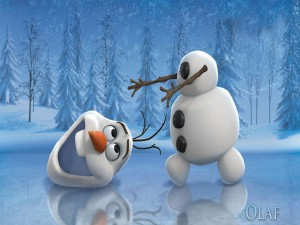 Postal: Olaf perdió la cabeza (Frozen)