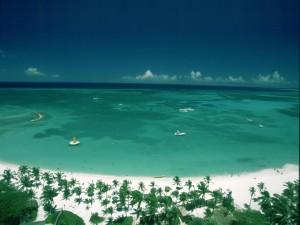 La hermosa bahía de Aruba