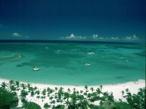 Postal: La hermosa bahía de Aruba