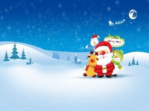 Santa y sus amigos te desean ¡Feliz Navidad!