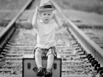 Divertida imagen de un bebé