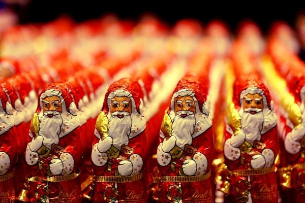Santa Claus de chocolate (Lindt)