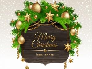 Postal: Feliz Navidad y Año Nuevo