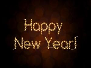 Postal: Luces de Feliz Año Nuevo!