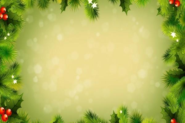 Adornos navideños de color verde