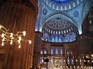 Postal: Azules en la mezquita