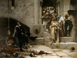 Postal: La Campana de Huesca (Jose Casado del Alisal)
