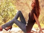 Una bella joven modelo