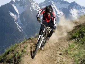 Postal: Velocidad en la mountain bicke