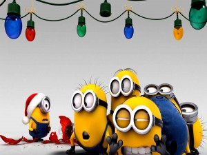 Postal: Minions en Navidad