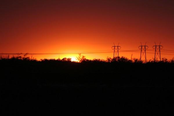 El sol al final del día