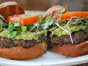 Postal: Hamburguesa vegetariana con guacamole