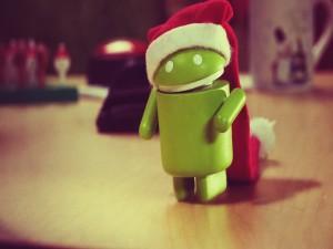 Postal: Android en Navidad