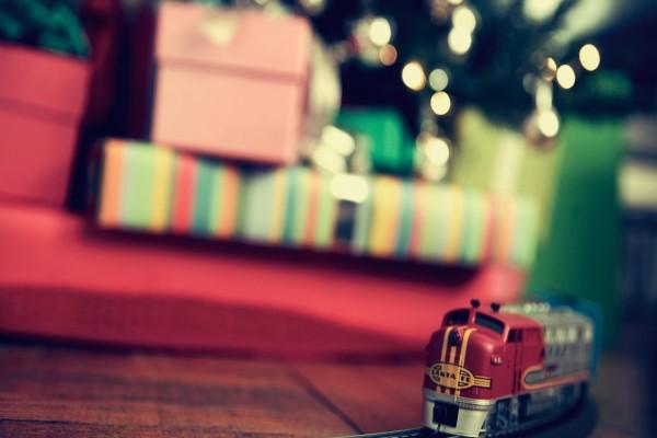 Un tren Santa Fe como regalo de Navidad