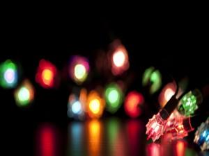 Postal: Pequeñas luces navideñas