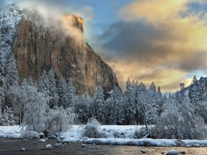 Postal: Parque Nacional de Yosemite en pleno invierno