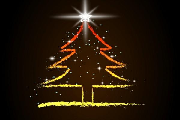 Árbol de Navidad con una brillante estrella